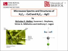 Thumbnail of MICROWAVE SPECTRA AND STRUCTURES OF H$_{4}$C$_{2}$$\cdots$AgCl AND H$_{4}$C$_{2}$$\cdots$CuCl