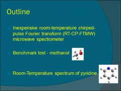 Thumbnail of ROOM-TEMPERATURE CHIRPED-PULSE FOURIER TRANSFORM MICROWAVE (RT-CP-FTMW) SPECTRUM OF PYRIDINE