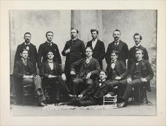 Thumbnail of Unidentified group (12 men in group pose)
