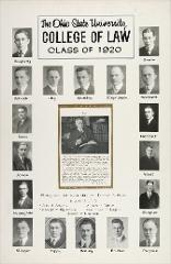 Thumbnail of Ohio State University College of Law Class of 1920