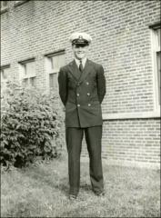 Thumbnail of John Glenn in naval air cadet uniform, 1942