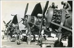 Thumbnail of Mechanics working on Corsairs