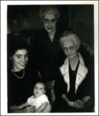 Thumbnail of Annie Glenn with her son, mother, and grandmother