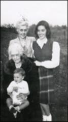 Thumbnail of Annie Glenn with her son, mother, and grandmother in New Concord, Ohio