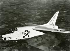 Thumbnail of John Glenn piloting his F8U-1P Crusader