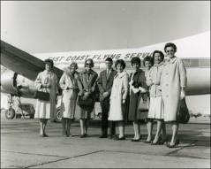 Thumbnail of Wives of the NASA Project Mercury astronauts with David and Lynn Glenn