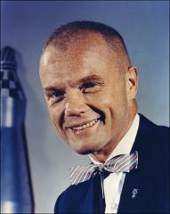 Thumbnail of Formal portrait of Project Mercury astronaut John Glenn, color, circa 1960
