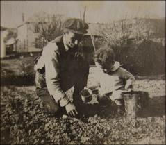 Thumbnail of John Glenn with Grandpa, circa 1922