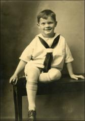 Thumbnail of John Glenn in sailor suit, age 4