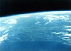 Thumbnail of Color photograph of Florida from space, taken by John Glenn in Friendship 7