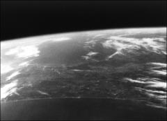 Thumbnail of Black and white photograph of Florida from space, taken by John Glenn in Friendship 7