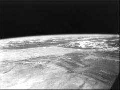 Thumbnail of Black and white photograph of North Africa from space