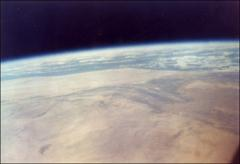 Thumbnail of Color photograph of North Africa from space