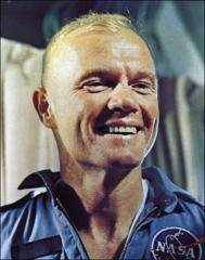 Thumbnail of John Glenn on the U.S.S. Noa following his orbital space flight