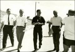 Thumbnail of Astronauts Scott Carpenter and John Glenn with NASA doctor William K. Douglas