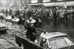 Thumbnail of John Glenn waves to the crowd during the Washington, D.C. parade
