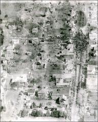 Thumbnail of Aerial view of New Concord, Ohio during the parade honoring John Glenn
