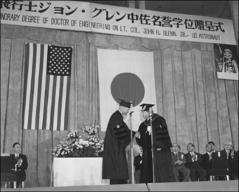 Thumbnail of John Glenn receives an honorary doctorate in engineering from Nihon University