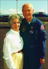 Thumbnail of John and Annie Glenn, 1998