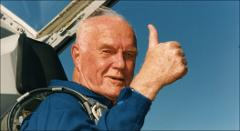 Thumbnail of John Glenn gives thumbs up