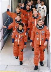 Thumbnail of Crew members board Space Shuttle Discovery