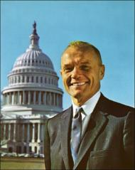 Thumbnail of Portrait of John Glenn with the U.S. Capitol in the background