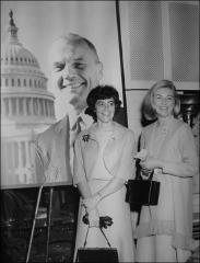 Thumbnail of Annie Glenn and Rene Carpenter at an event in Akron, 1964