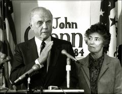 Thumbnail of John Glenn speaks at Benton, Arkansas during his presidential campaign