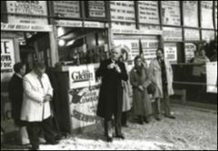 Thumbnail of John Glenn speaks in Perry, Iowa during his presidential campaign