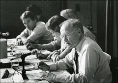 Thumbnail of John Glenn speaks at a Senate hearing on energy assistance to the elderly