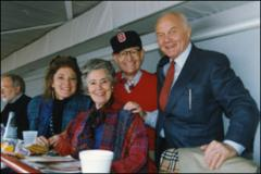 Thumbnail of John and Annie Glenn, with daughter Lynn and OSU President Gordon Gee