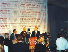 Thumbnail of News conference announcing the John Glenn Institute for Public Service and Public Policy