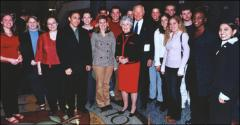 Thumbnail of John and Annie Glenn with students of the John Glenn School of Public Service and Public Policy