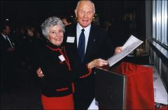 Thumbnail of John and Annie Glenn at the fundraising event for Page Hall renovations