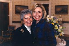 Thumbnail of Annie Glenn with First Lady Hillary Clinton