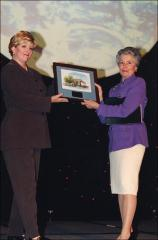 Thumbnail of Annie Glenn with news anchor Deborah Countiss