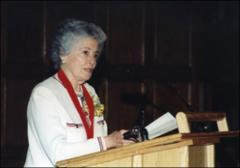 Thumbnail of Annie Glenn at her induction into the Hall of Excellence of the Ohio Foundation of Independent Colleges