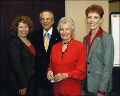 Thumbnail of Annie Glenn with members of the Department of Speech and Hearing Science