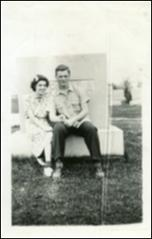 Thumbnail of Annie Castor and John Glenn as teenagers, at cemetery, circa 1938