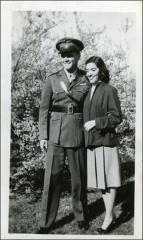 Thumbnail of Annie and John Glenn during World War II at Castor home, circa 1943