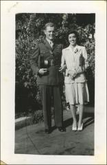 Thumbnail of Annie and John Glenn during World War II, circa 1943