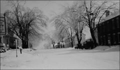 Thumbnail of Winter view of Main Street in New Concord, Ohio, circa 1920s