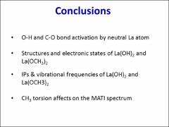 Thumbnail of C-O AND O-H BOND ACTIVATION OF METHANOLE BY LANTHANUM