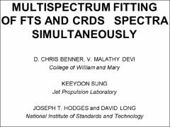 Thumbnail of MULTISPECTRUM FITTING OF FTS AND CRDS SPECTRA SIMULTANEOUSLY