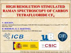 Thumbnail of HIGH RESOLUTION STIMULATED RAMAN SPECTROSCOPY OF CARBON TETRAFLUORIDE CF$_4$