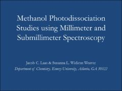 Thumbnail of METHANOL PHOTODISSOCIATION STUDIES USING MILLIMETER AND SUBMILLIMETER SPECTROSCOPY