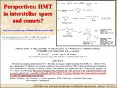 Thumbnail of HIGH RESOLUTION SPECTROSCOPY OF HEXAMETHYLENETETRAMINE (HMT) C$_{6}$N$_4$H$_{12}$