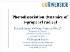 Thumbnail of ULTRAVIOLET PHOTODISSOCIATION DYNAMICS OF THE 1-PROPENYL RADICAL
