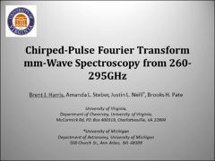 Thumbnail of CHIRPED-PULSE FOURIER TRANSFORM MM-WAVE SPECTROSCOPY FROM 260-290 GHz