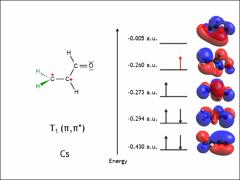 Thumbnail of COMPUTATIONAL APPROACHES TO THE DETERMINATION OF THE MOLECULAR GEOMETRY OF ACROLEIN IN ITS $T_1(n,\pi^{*})$ STATE